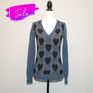 3/ $20 Talula Aritzia Preppy Heart V-neck Sweater